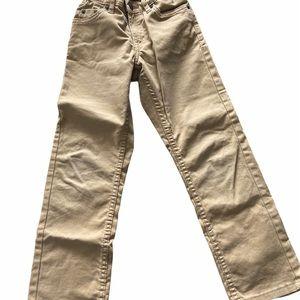 Boys Levi khaki pants size 7regular